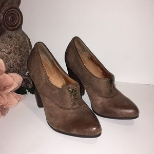 Anthropologie No 704 b Holt Brown Leather Booties